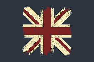 United Kingdom flag tee print
