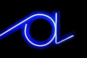 Vintage neon letter A