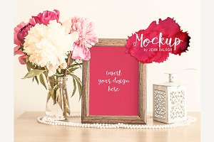 Beautiful Mockup With Flowers
