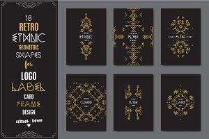 18 Retro Ethnic Logo Templates