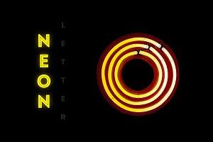 Vintage neon letter O