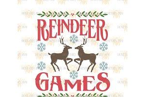 Reindeer Games SVG EPS DXF JPG