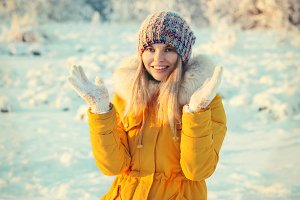 Young Woman Outdoor Winter