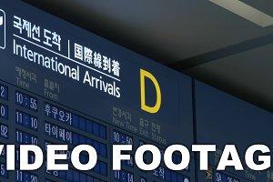 Flight schedule of international