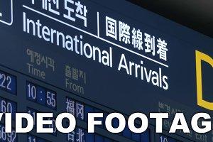 International arrivals schedule