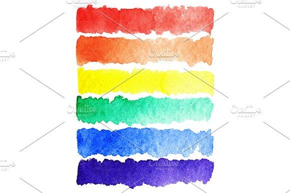 Watercolor rainbow lgbt flag vector