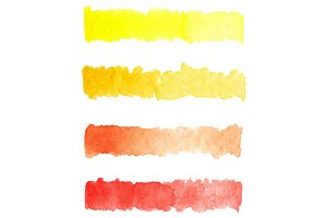Watercolor colorful palette vector