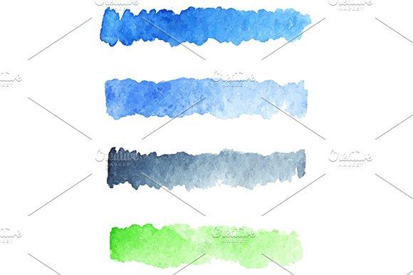 Watercolor colorful palette vector