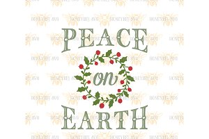 Peace On Earth SVG EPS DXF JPG