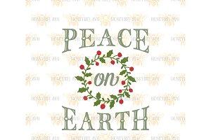 Peace On Earth SVG EPS DXF JPG