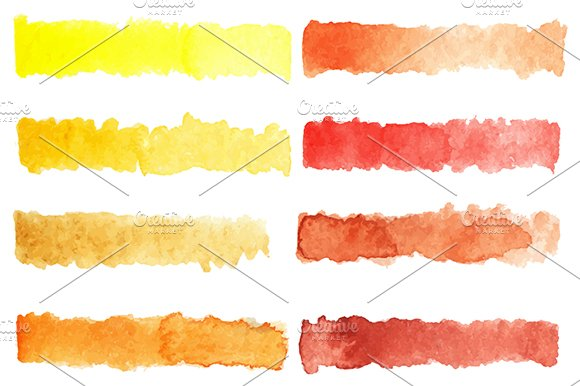 Watercolor colorful palette vector in Patterns