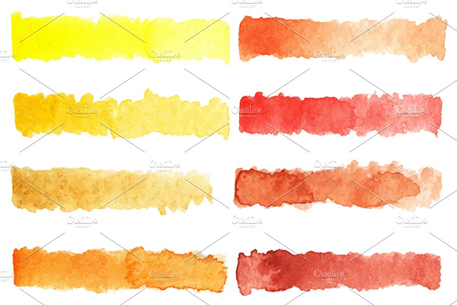 Watercolor colorful palette vector in Patterns - product preview 8