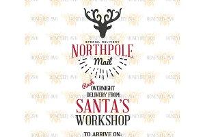 Northpole Santa Sack SVG EPS DXF JPG