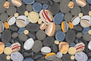 River stones seamless pattern
