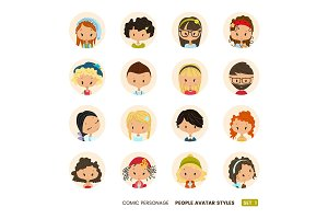 Comic People Avatars collection
