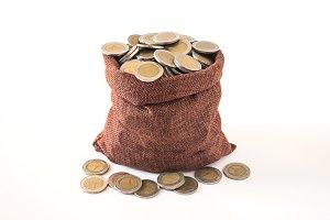 coins splash out