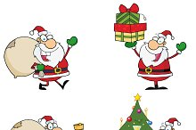Santa Claus Characters. Collection