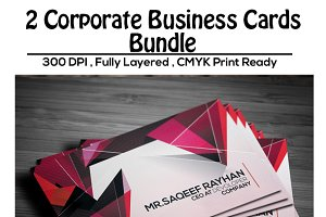 2 Corporate Business Cards - Bundle