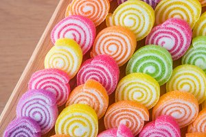 Colorful jelly fruit
