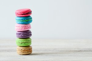 colorful stack of macaron