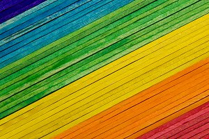 colorful texture of popsicle sticks