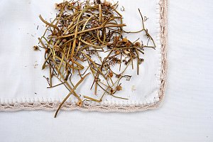 natural dry chamomile for infusion