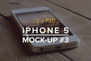 iPhone 5 2xPSD Mockup #3