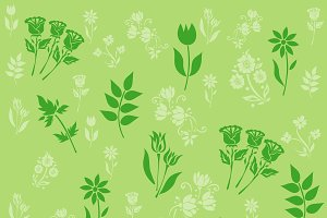 pattern with flowers, vector