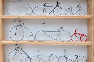 wire bicycle collection