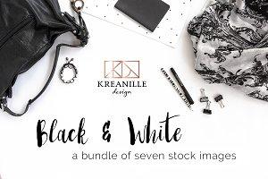 Black & White Feminine Stock Images