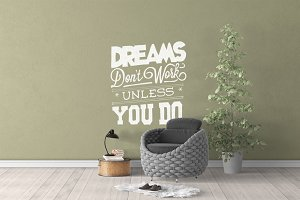 Wall Mockup - Sticker Mockup Vol 40