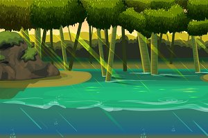 Forest Game Background Illustrations Creative Market - River game