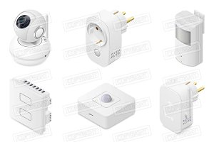 Smart home technology appliances set