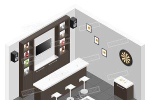 Lounge for men room