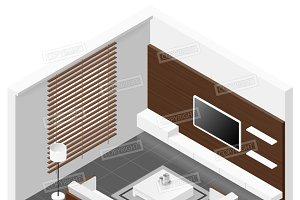 Living room isomertic detailed set