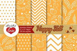 Yellow Digital Paper Autumn Backdrop