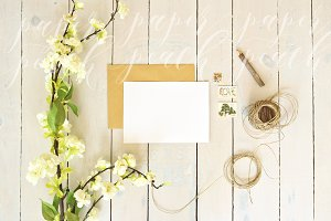 Rustic Card Mock Up