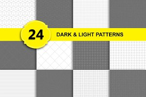 24 Patterns - Dark and Light