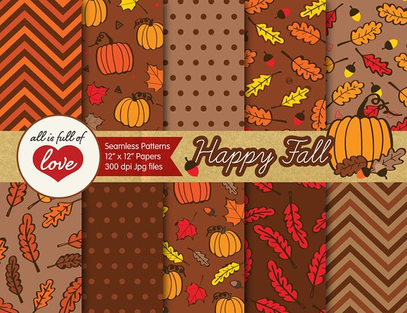 brown fall foliage backgrounds graphic patterns creative market