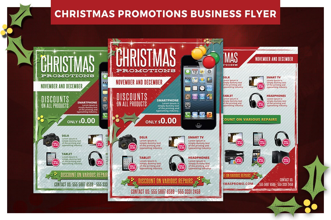 Christmas Business Promotions Flyer ~ Flyer Templates ...
