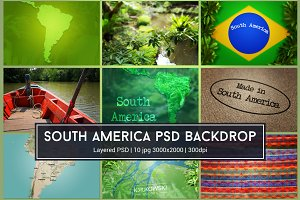 South America PSD Background