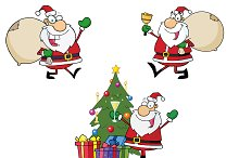 Happy Santa Claus. Collection