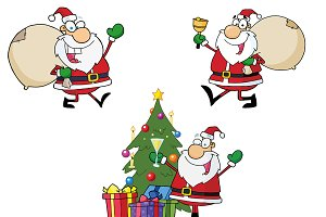 Happy Santa Claus. Collection