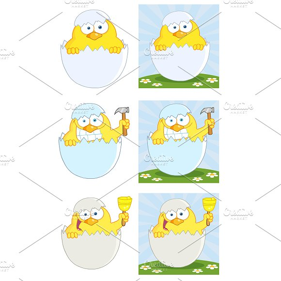 Yellow Chick. Collection - Illustrations