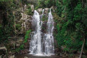 Australian rainforest waterfall