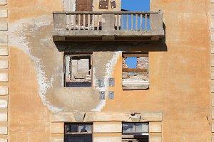 Left broken building