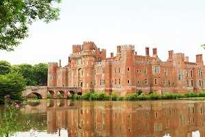 Brick Herstmonceux castle in England East Sussex 15th century
