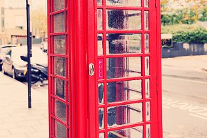classic English red telephone box - symbol of London