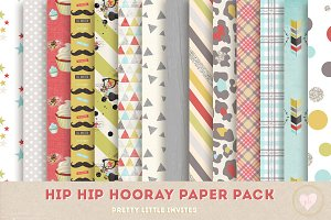 Hip Hip Hooray Boy Paper Pack