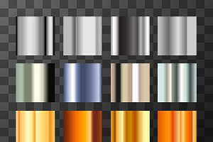 Silver and gold metal gradients
